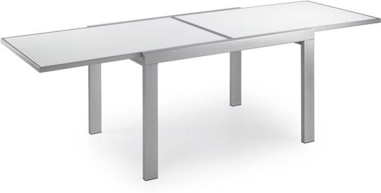 Eetkamertafel Uitschuifbaar Wit : Eetkamertafel vierkant wit eigentijdse ronde eettafel
